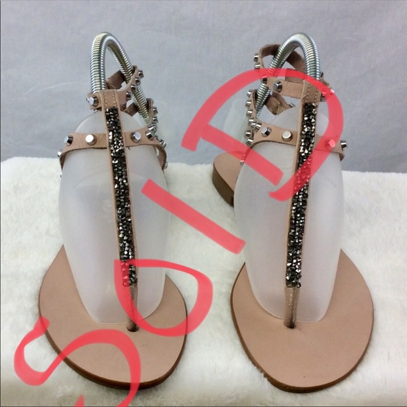 405ba66f046a Vince Camuto Shoes - Vince Camuto Jemile Strappy Studded Thong Sandal